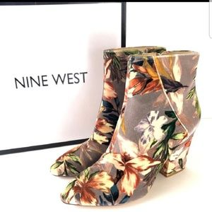 NEW Nine West Floral Booties
